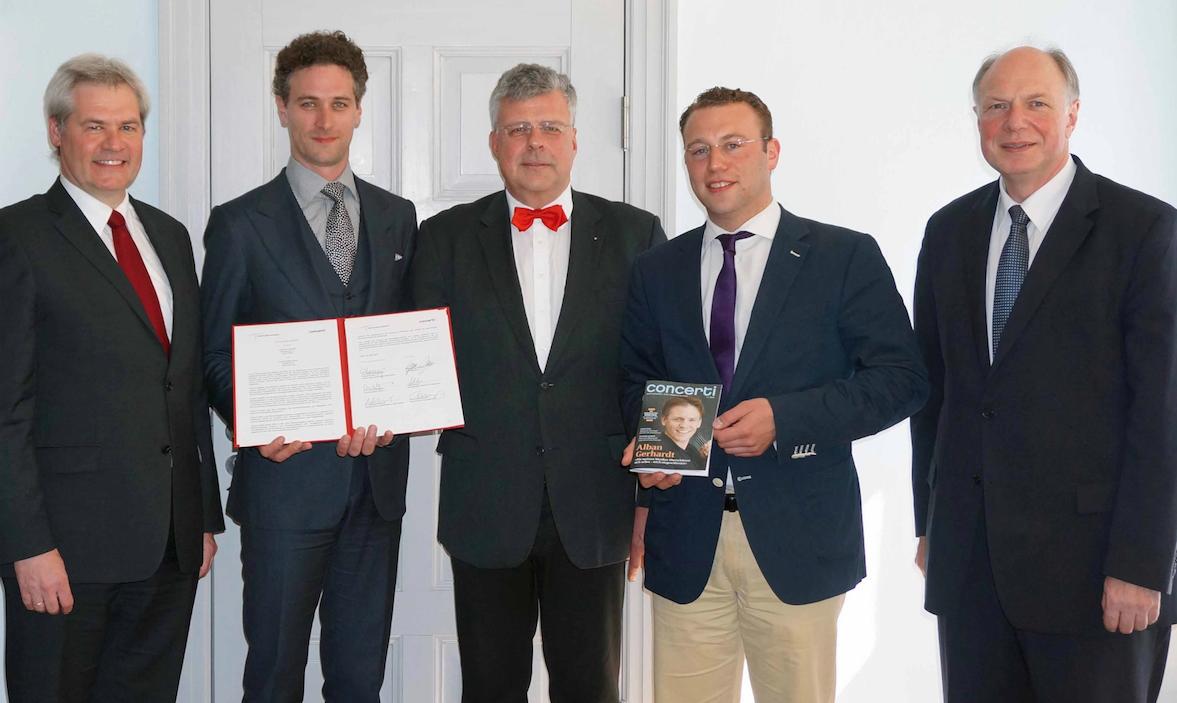 Unterzeichnung des Kooperationsvertrag von concerti mit dem Deutschen Musikrat